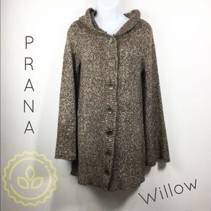 Prana Willow Hooded Button Cardigan Sweater Sz Sm